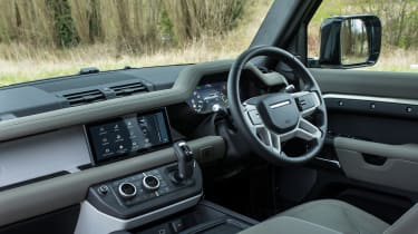 Land Rover Defender 110 - interior and dashboard