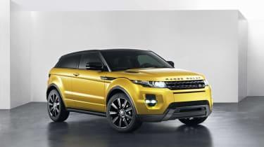 Range Rover Evoque SUV 2013 Limited Edition Sicilian Yellow front quarter
