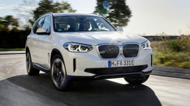 BMW iX3 SUV front 3/4 driving