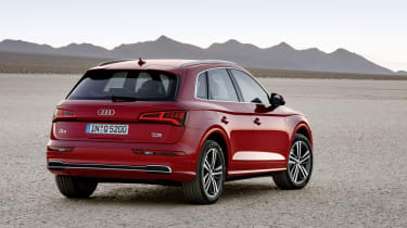 The new Audi Q5 closely resembles a scaled-down Q7 in the way it's been designed