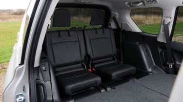 Like many seven seater cars, the Land Cruiser's rearmost seats are tight - though they're useful nonetheless