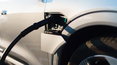 Audi e-tron Sportback SUV charging cable