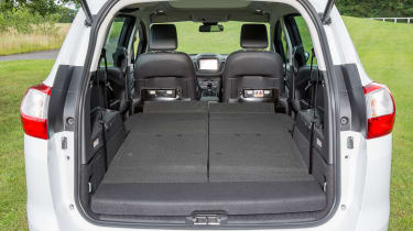 Fold down all the rear seats and there's a flat floor and 1,715 litres of room