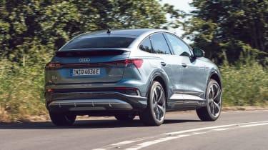 Audi Q4 Sportback e-tron driving - rear