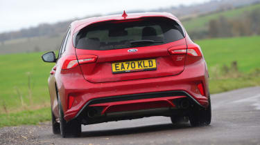 Ford Focus ST hatchback rear cornering