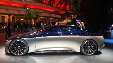 Mercedes EQS electric saloon concept - Side static shot - Frankfurt
