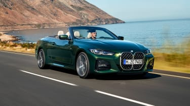2020 BMW 4 Series Convertible driving