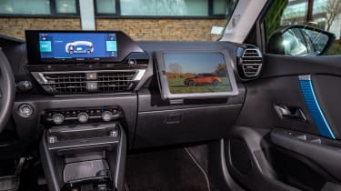 Citroen e-C4 hatchback dashboard
