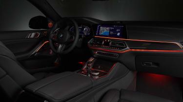 2019 BMW X6 - night cabin shot