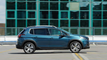 The 2008 is less adventurously styled than the newer, and larger, 3008 SUV