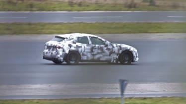 2022 Ferrari Purosangue SUV - prototype rear passing shot