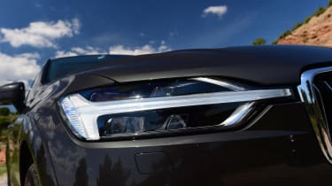 Every XC60 gets Thor's Hammer daytime running lights, while the Pro trim levels get Active Bending Headlights