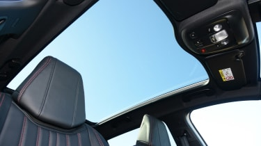 A panoramic sunroof is available to give the interior a light and airy feel