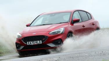 Ford Focus ST hatchback front water splash