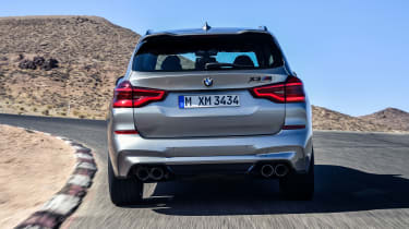 BMW X3 M Competition SUV rear on track