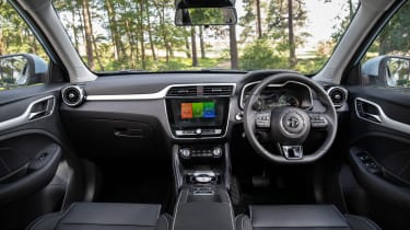 MG ZS EV SUV interior
