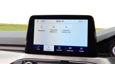 Ford Kuga phone connection screen