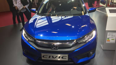 The new Civic displays the Japanese company's distinctive new grille design