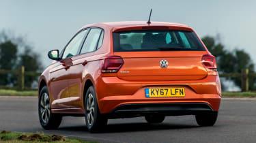 Volkswagen Polo driving - rear