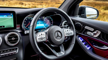 Mercedes GLC Coupe SUV steering wheel