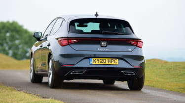 SEAT Leon hatchback - rear driving