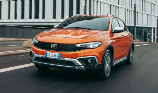 2020 Fiat Tipo Cross - front 3/4 view moving