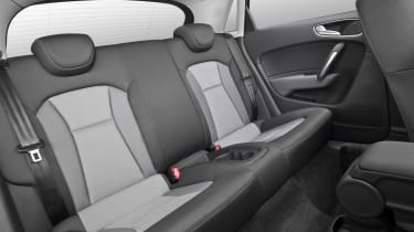 The same high-quality interior materials are used in the back