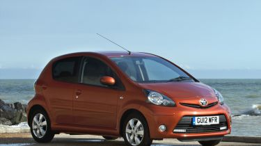 Toyota Aygo Fire 2013 city car front static
