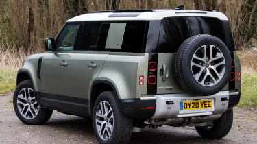 Land Rover Defender SUV rear 3/4 lay-by