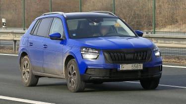 Blue Skoda Kamiq front