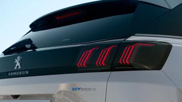 2020 Peugeot 3008 PHEV - rear close-up
