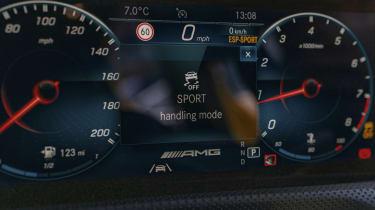 Mercedes-AMG A 45 S hatchback - MBUX digital instrument cluster
