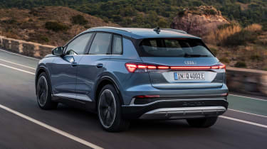 2021 Audi Q4 e-tron SUV - rear 3/4 dynamic