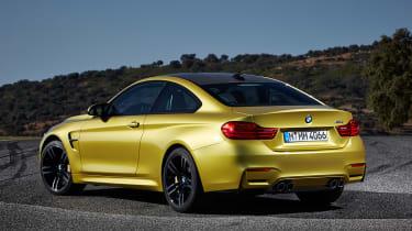 BMW M4 coupe 2014 rear quarter static