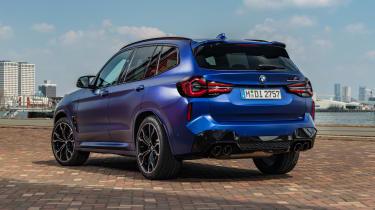 2021 BMW X3 M rear 3/4 static