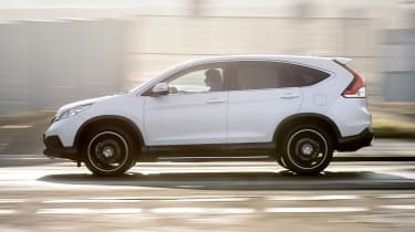 Honda CR-V SUV 2014 White Edition side profile