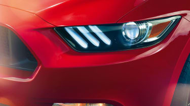 Ford Mustang coupe 2014 headlight detail