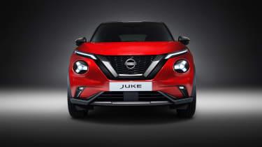 New Nissan Juke in red - front end