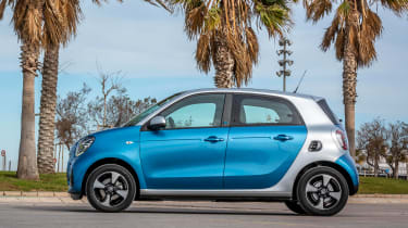 Smart EQ ForFour hatchback side static