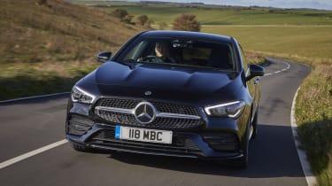 Mercedes CLA Shooting Brake driving - close up