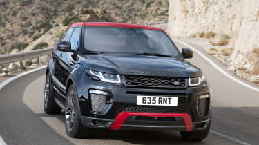 The red and black Land Rover Range Rover Evoque Ember special edition was unveiled in 2016