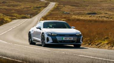 Audi e-tron GT saloon front cornering
