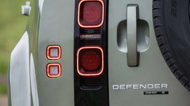 Land Rover Defender SUV rear lights