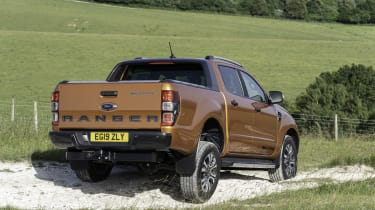 2019 Ford Ranger Wildtrak - rear 3/4 offroad
