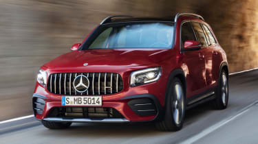 2020 Mercedes-AMG GLB 35 - front 3/4 dynamic driving