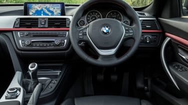 The interior is largely carried over from the 3 Series, but you do sit higher up, improving visibility