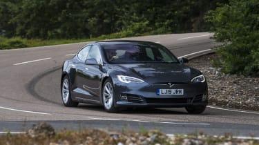 Tesla Model S - front 3/4 dynamic view