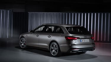 Facelifted Audi A4 Avant estate - rear