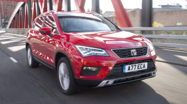 The SEAT Ateca is the brand's first SUV, and it's closely related to the Volkswagen Tiguan