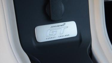 McLaren GT interior plaque